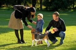 family-at-dog-park
