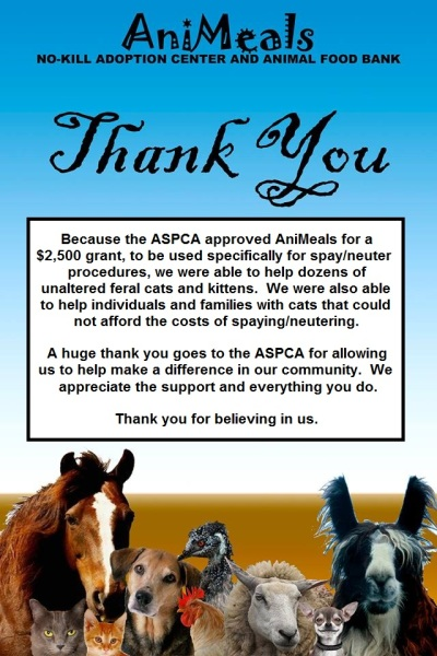 thank you-aspca 2013